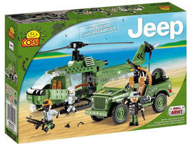COBI - JEEP WILLYS WITH HELICOPTER  250 OSAA - Rakennuslelut - 2NDC-100650 - 0