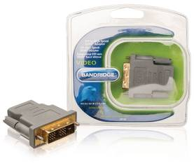 High Speed HDMI Sovitin DVI-D 18 + 1-Pin Uros - HDMI naaras Harmaa - Adapterit - 8717587016462 - 1