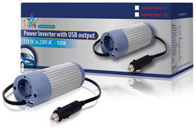 Invertteri 12 V - 230 V 100 W USB - Invertterit - HQ-INV100U-12 - 2
