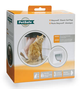 Manual 4 Way Locking Classic Cat Flap-White w/tunnel - Kissan luukut & kiipeily- ja raapimapuut - 2NDC-81792 - 3