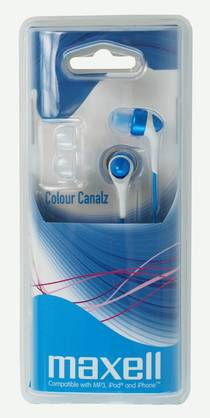 Maxell Color Canalz Blue - Kuulokkeet - 4902580719562 - 1