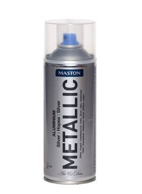 Spraymaali Maston Metallic 400 ml hopea - Spraymaalit - 6412490023782 - 1