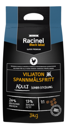 Racinel Black Label Adult chicken 3kg - Kuivamuonat - 2NDC-80223 - 0