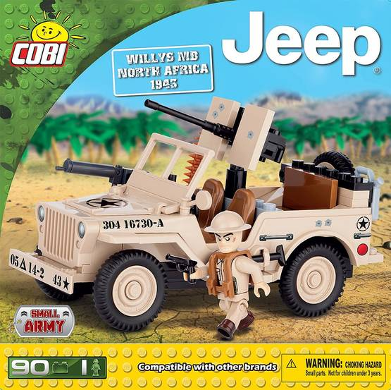 Jeep Willys MB North Africa 1943, Cobi - Rakennuslelut - 2NDC-102323 - 1
