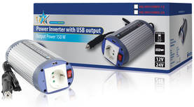 Invertteri 24 - 230 V 150 W USB - Invertterit - HQ-INV150WU-24 - 2