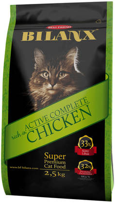 Best Friend Bilanx Active Complete chicken 2,5 kg kissan täysravinto - Kissan ruokinta - 2NDC-80095 - 1