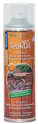 Teak oil spray Maston 500 ml väritön - Spraymaalit - 6412490005467 - 1