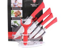Royalty Line 5pcs Ceramic Coated Knife Set - Veitset ja sakset - 2NDC-32568 - 0