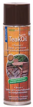 Teak oil spray Maston 500 ml ruskea - Spraymaalit - 6412490005658 - 1