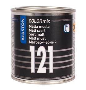 Alkydimaali Maston COLORmix 121 250 ml, matta musta - Automaalit - 647-5077-99 - 1