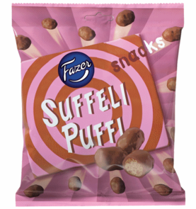 Suffeli puffi snacks 180 g - Suklaat - 6411401036309 - 1