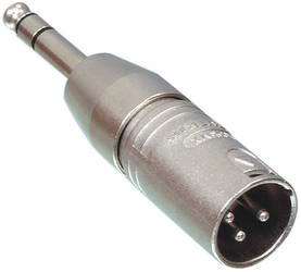 Adapter XLR 3pol to tele 6.3 mm XLR - Adapterit - NTR-NA3MP - 1